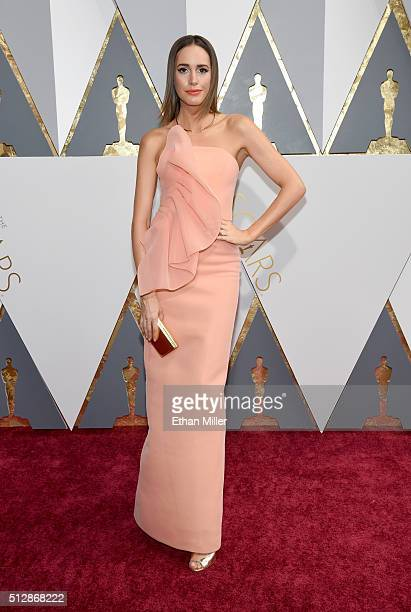 Television personality Louise Roe attends the 88th Annual Academy Awards at Hollywood Highland Center on February 28 2016 in Hollywood California