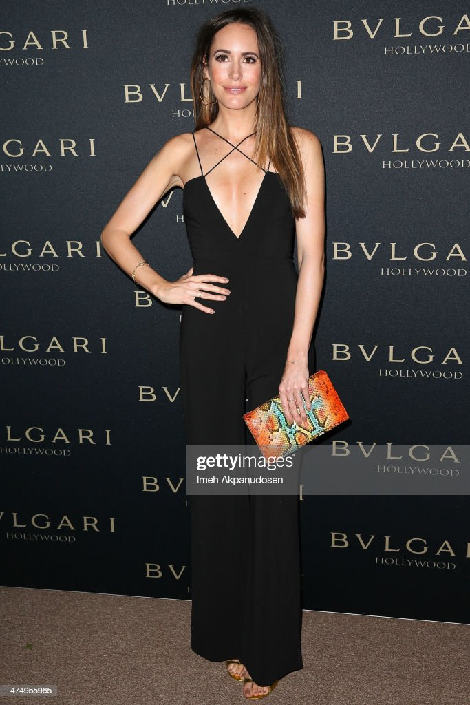 Television personality Louise Roe attends the BVLGARI 'Decades of Glamour' Oscar Party at Soho House on February 25, 2014 in West Hollywood, California.