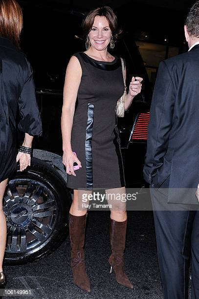 Television personality LuAnn de Lesseps leaves the Lord Taylor department store on October 26 2010 in New York City