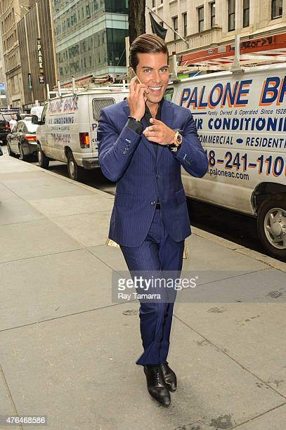 Television personality Luis D Ortiz leaves the 'Today Show' taping at the NBC Rockefeller Center Studios on June 9 2015 in New York City