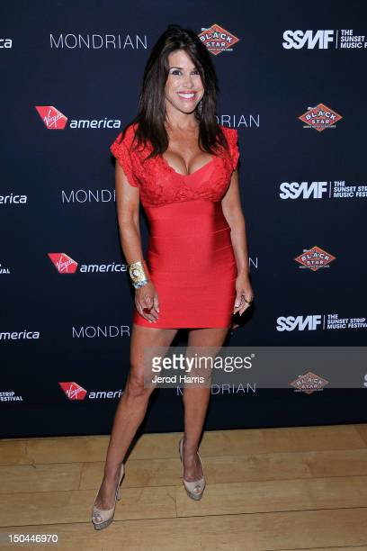 Television personality Lynne Curtin arrives at the 5th Annual Sunset Strip Music Festival official VIP party sponsored by Black Star Beer and Virgin...