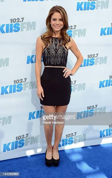 Television Personality Maria Menounos arrives at 1027 KIIS FM's Wango Tango at The Home Depot Center on May 12 2012 in Carson California