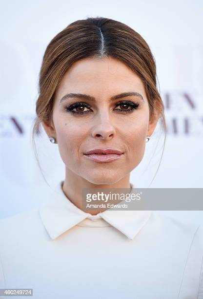 Television personality Maria Menounos arrives at The Hollywood Reporter's Women In Entertainment Breakfast at Milk Studios on December 10 2014 in Los...
