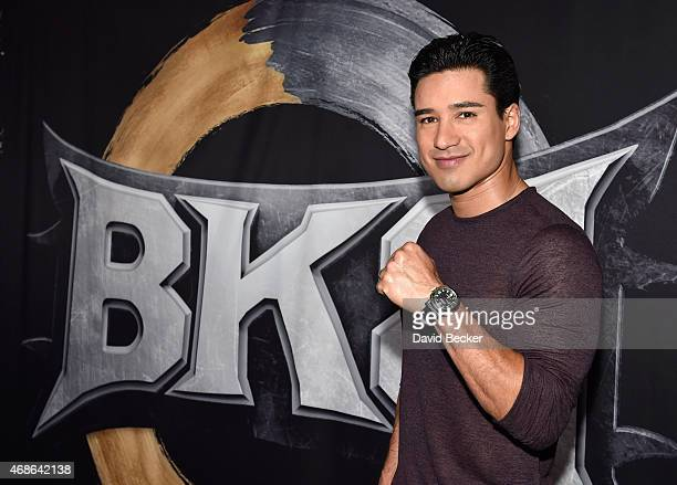 Television personality Mario Lopez attends BKB 2 Big Knockout Boxing at the Mandalay Bay Events Center on April 4 2015 in Las Vegas Nevada