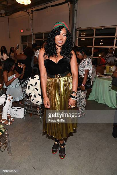 Television personality Marlo Hampton attends Cocktails with Claire featuring Miss Diddy LA Breaking Into Fashion at B Loft Atlanta on August 6 2016...