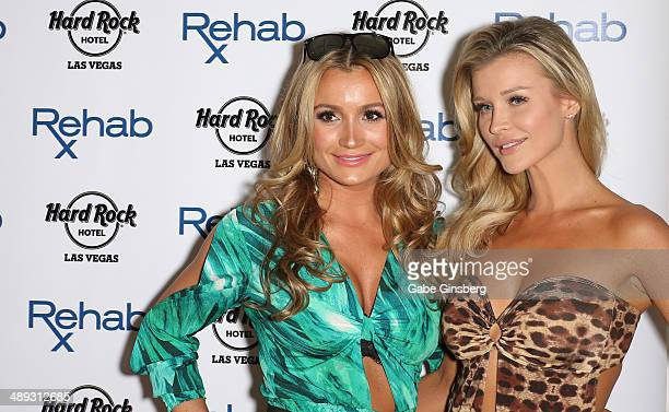 Television personality Marta Krupa and her sister television personality and model Joanna Krupa arrive at the Hard Rock Hotel Casino during the...
