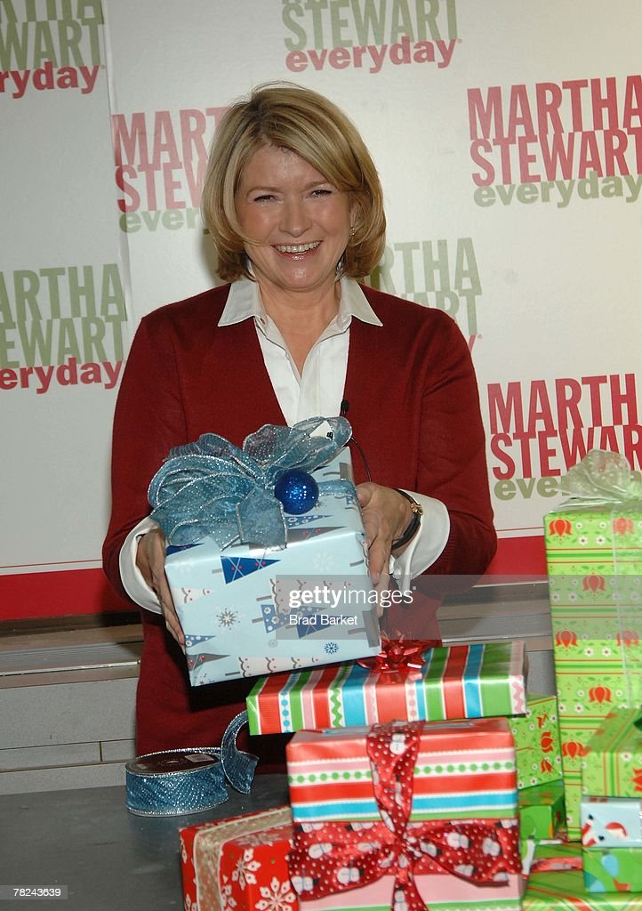 Martha Stewart Wraps Gifts To Benefit Women In Need At Kmart : News Photo
