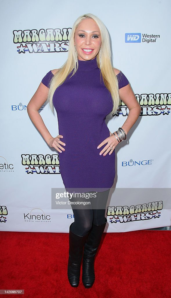 Television personality Mary Carey arrives for the premiere of 'Margarine Wars' at ArcLight Hollywood on March 29, 2012 in Hollywood, California.