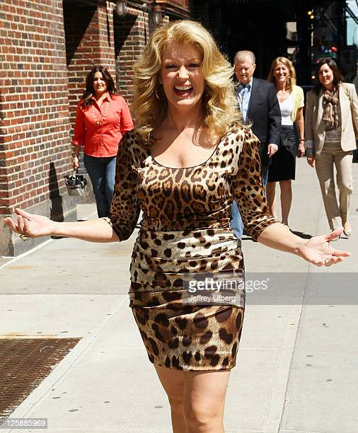 Television personality Mary Hart arrives at Late Show With David Letterman at the Ed Sullivan Theater on May 10 2011 in New York City