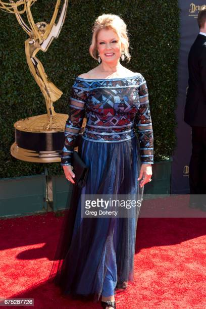 Television Personality Mary Hart arrives at the 44th Annual Daytime Emmy Awards at Pasadena Civic Auditorium on April 30 2017 in Pasadena California
