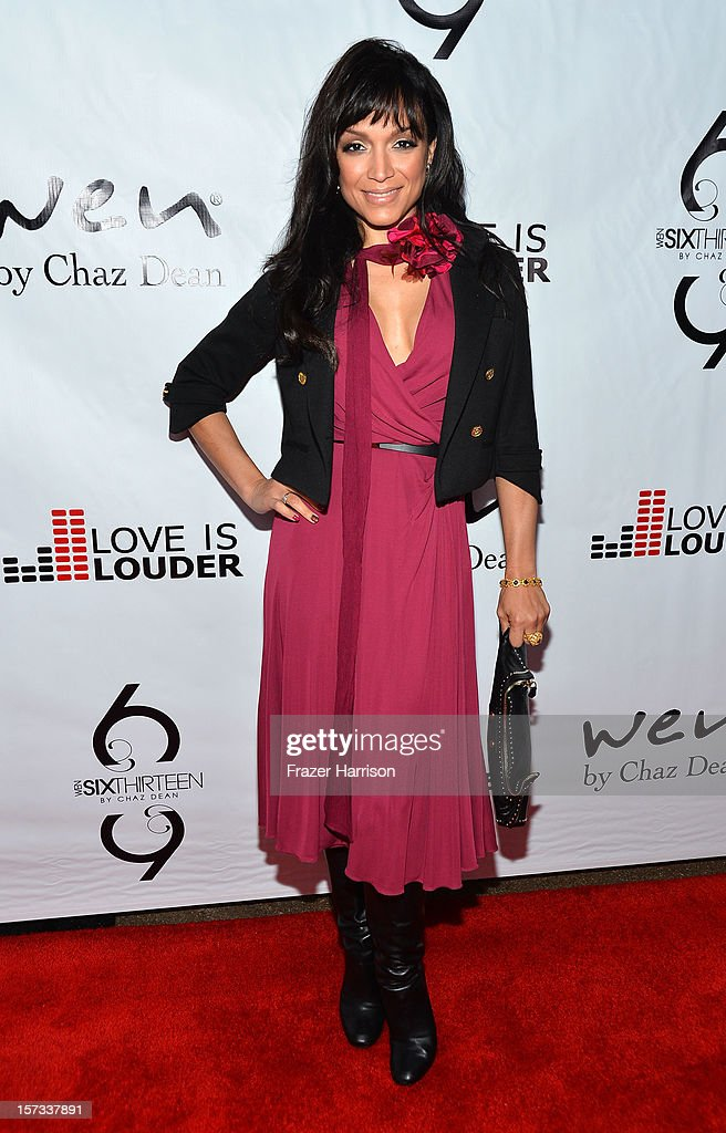 Television Personality Mayte Garcia arrives at Chaz Dean's Holiday Party Benefitting the Love is Louder Movement on December 1, 2012 in Los Angeles, California.