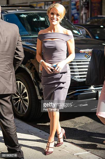 Television personality Megyn Kelly enters 'The Late Show With Stephen Colbert' taping at the Ed Sullivan Theater on May 16 2016 in New York City