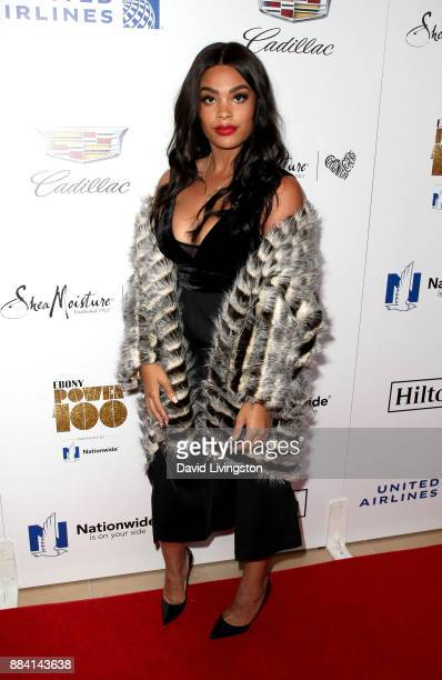 Television personality Mehgan James attends Ebony Magazine's Ebony's Power 100 Gala at The Beverly Hilton Hotel on December 1 2017 in Beverly Hills...