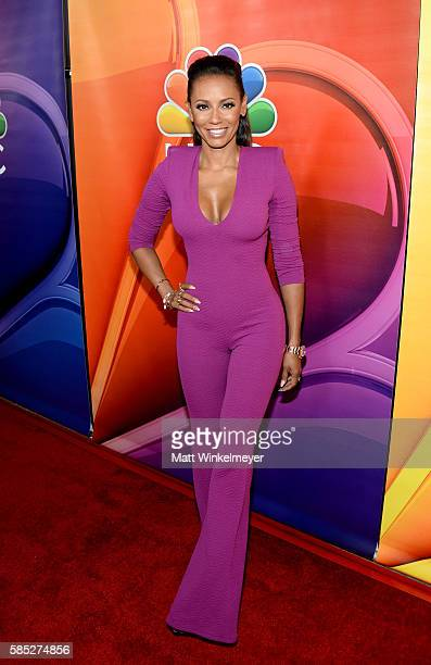 Television Personality Mel B attends the NBCUniversal press day during the 2016 Summer TCA Tour at The Beverly Hilton Hotel on August 2 2016 in...