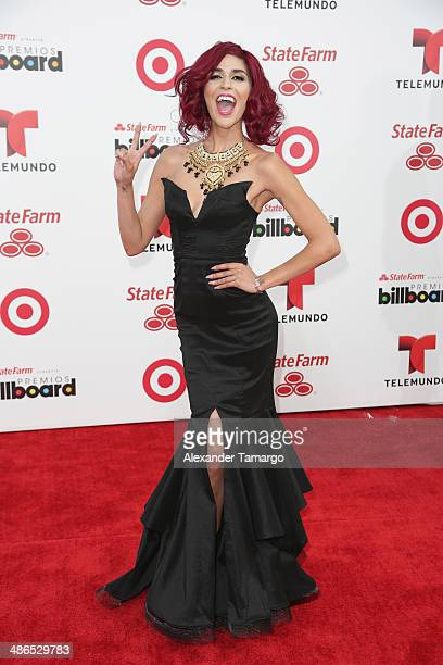Television personality Melissa 'Crash' Barrera attends the 2014 Billboard Latin Music Awards at Bank United Center on April 24 2014 in Miami Florida