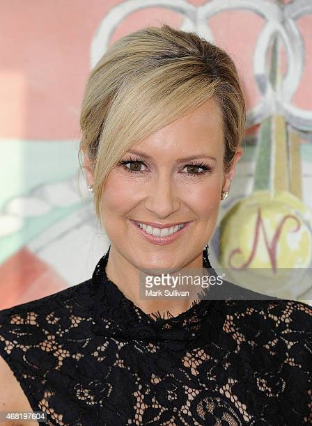 Television personality Melissa Doyle attends the Audi Hamilton Island Race Week launch at North Bondi Fish on March 31 2015 in Sydney Australia
