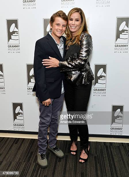 Television personality Melissa Rivers and her son Cooper Endicott attend the An Evening With Melissa Rivers event at The GRAMMY Museum on June 30...