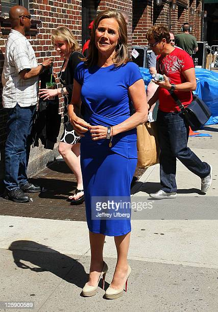 Television Personality Meredith Vieira arrives at Late Show With David Letterman at the Ed Sullivan Theater on June 6 2011 in New York City