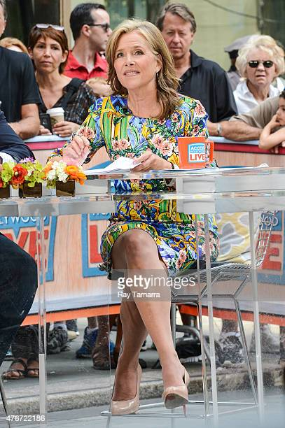Television personality Meredith Vieira hosts the Access Hollywood taping at the NBC Rockefeller Center Studio on June 11 2015 in New York City