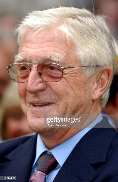 Television personality Michael Parkinson leaves the memorial mass held for Sir John Paul Getty II September 9 2003 in London England The Americanborn...