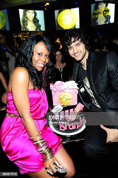 Television personality Michael Steger and Brandee Tucker celebrate Brandee's birthday at Eve The Nightclub at Crystals at CityCenter on April 10 2010...