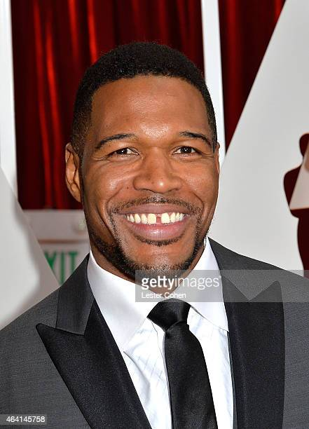 Television personality Michael Strahan attends the 87th Annual Academy Awards at Hollywood Highland Center on February 22 2015 in Hollywood California