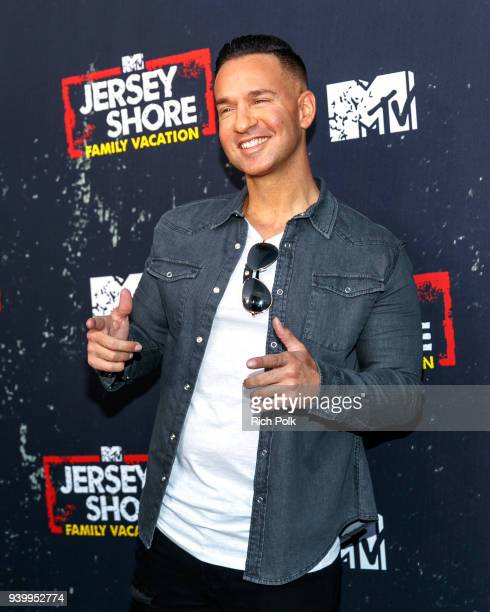 "Television personality Mike Sorrentino arrives at the ""Jersey Shore Family Vacation"" Premiere Party at Hyde Sunset Kitchen + Cocktails on March 29,..."