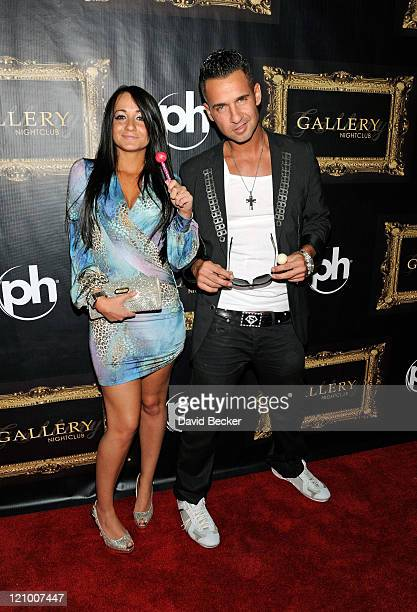 Television personality Mike 'The Situation' Sorrentino and his sister Melissa Sorrentino arrive at the Gallery Nightclub at the Planet Hollywood...