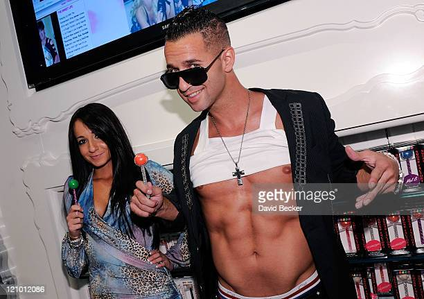 Television personality Mike 'The Situation' Sorrentino and his sister Melissa Sorrentino attend the Sugar Factory at the Paris Las Vegas at the Paris...
