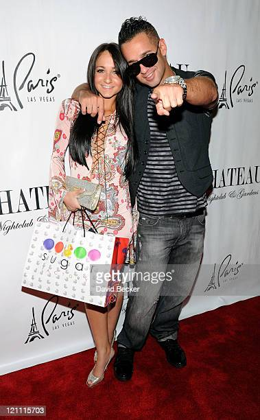 Television personality Mike 'The Situation' Sorrentino and his sister Melissa Sorrentino arrive at the Chateau Nightclub Gardens at the Paris Las...
