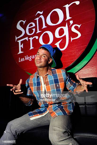 Television personality Mike 'The Situation' Sorrentino appears at Senor Frog's at the Treasure Island Hotel Casino on July 14 2012 in Las Vegas Nevada