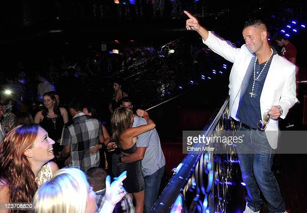 """Television personality Mike """"The Situation"""" Sorrentino appears at the LAX Nightclub at the Luxor Resort & Casino early on September 4, 2011 in Las..."""