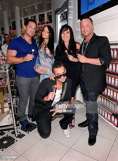 Television personality Mike 'The Situation' Sorrentino appears with his family brother Marc Sorrentino sister Melissa Sorrentino mother Linda...