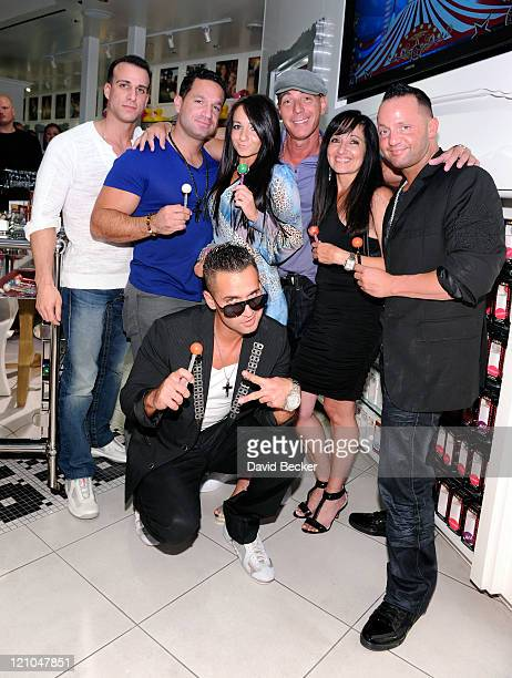 Television personality Mike 'The Situation' Sorrentino appears with guest Marc Sorrentino Melissa Sorrentino Steve Davidovici Linda Sorrentino and...