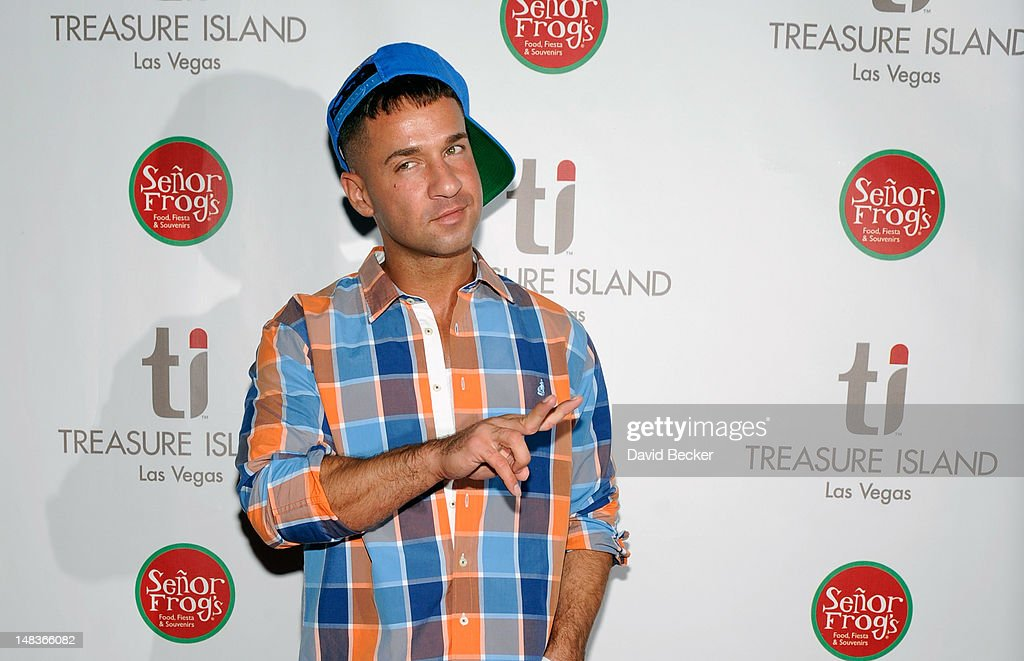 Television personality Mike 'The Situation' Sorrentino arrives to celebrate his birthday at Senor Frog's Las Vegas at the Treasure Island Hotel & Casino on July 14, 2012 in Las Vegas, Nevada.