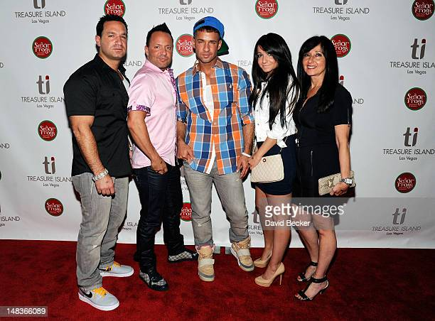 Television personality Mike 'The Situation' Sorrentino arrives with his family Marc Sorrentino Frankie Jr Sorrentino Melissa Sorrentino and Linda...