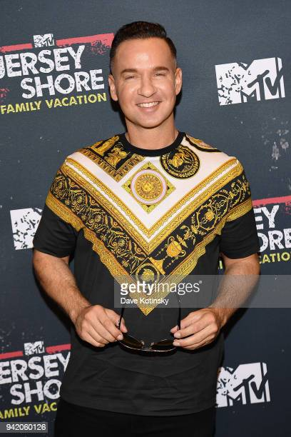 "Television personality Mike 'The Situation' Sorrentino attends MTV's ""Jersey Shore Family Vacation"" New York premiere party at PHD at the Dream..."