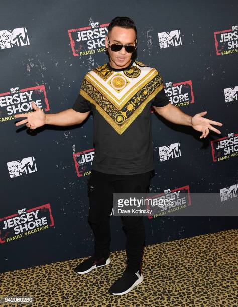"""Television personality Mike 'The Situation' Sorrentino attends MTV's """"Jersey Shore Family Vacation"""" New York premiere party at PHD at the Dream..."""