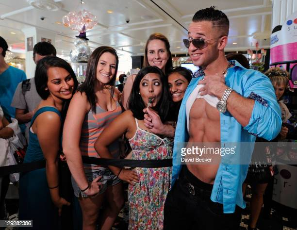Television personality Mike 'The Situation' Sorrentino attends the launch of his signature couture pop at the Sugar Factory at the Paris Las Vegas on...