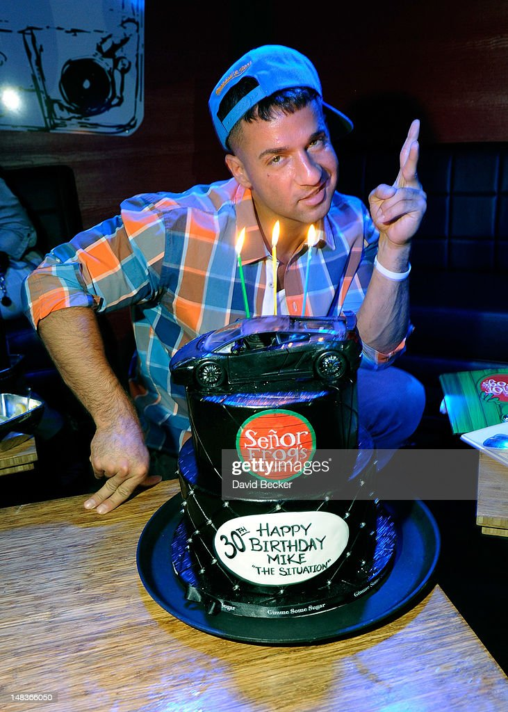 Television personality Mike 'The Situation' Sorrentino celebrates his birthday at Senor Frog's at the Treasure Island Hotel & Casino on July 14, 2012 in Las Vegas, Nevada.