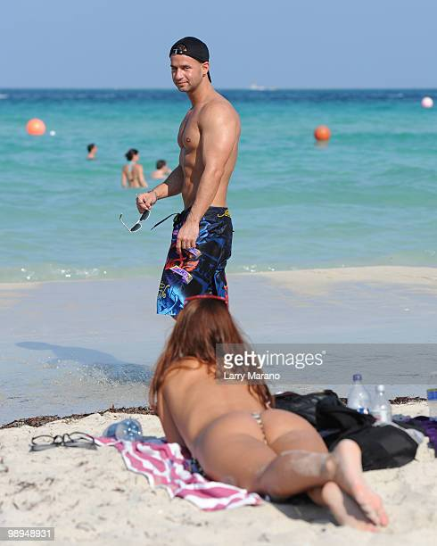 Television personality Mike 'The Situation' Sorrentino is seen on May 9 2010 in Miami Beach Florida