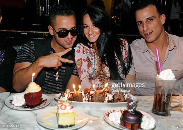 Television personality Mike 'The Situation' Sorrentino Melissa Sorrentino and Michael Sussman attend the Sugar Factory American Brasserie at the...