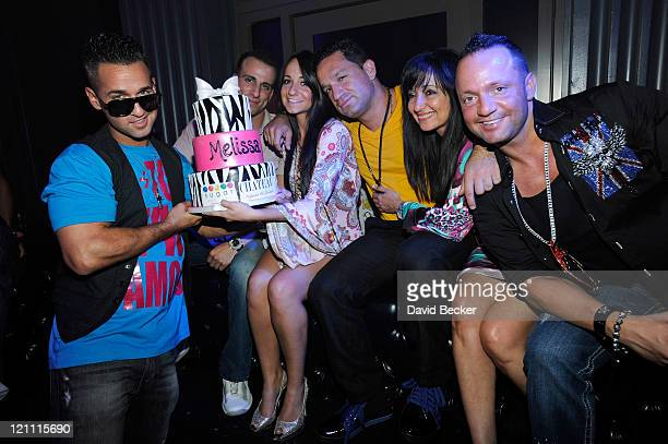 Television personality Mike 'The Situation' Sorrentino Michael Sussman Melissa Sorrentino Marc Sorrentino Linda Sorrentino and Frank Sorrentino Jr...