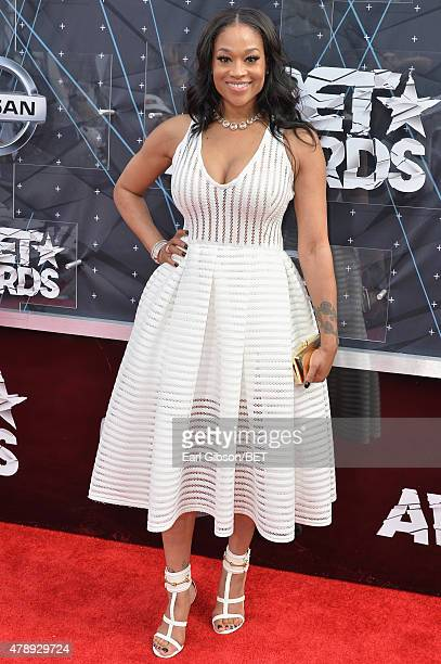 Television personality Mimi Faust attends the 2015 BET Awards at the Microsoft Theater on June 28 2015 in Los Angeles California