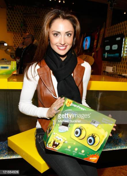 Television personality / model Katie Cleary visits Nickelodeon at Village at the Yard on January 16 2009 in Park City Utah