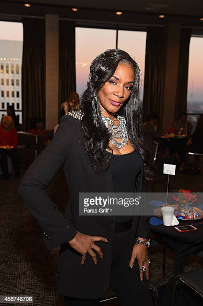 Television personality Momma Dee attends as Mary J Blige Visits V103 Ryan Cameron Morning Show With Wanda Smith at The W Hotel Midtown on November 10...