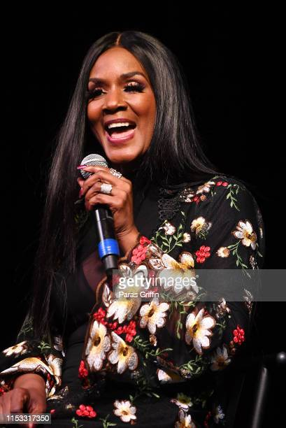 Television personality Momma Dee speaks onstage during 2019 Atlanta Ultimate Women's Expo at Georgia World Congress Center on June 02 2019 in Atlanta...