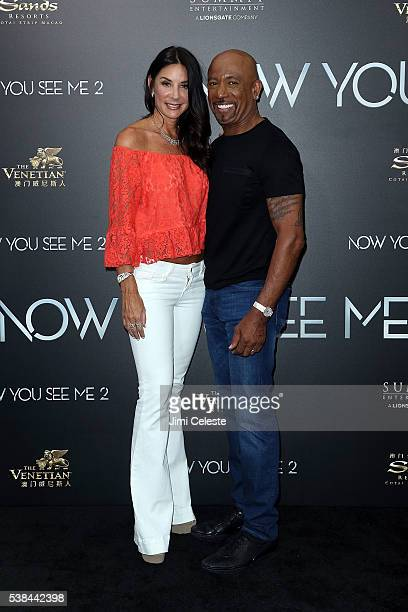 Television Personality Montel Williams and wife Tara Williams attend Summit Entertainment presents the world premiere of Now You See Me 2 at AMC...