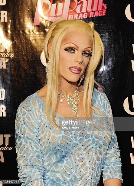 Television personality Morgan McMichaels attends the ABSOLUT RuPaul Drag Race Season 2 Premiere Event at Eleven NightClub on January 26 2010 in West...