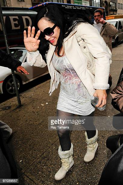 Television personality Nadya Octomon Suleman walks in Midtown Manhattan on February 24 2010 in New York City